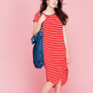 She + Sky Red and White Striped Dress